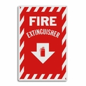 "Metal Fire Extinguisher Arrow Sign - 8"" x 12"""