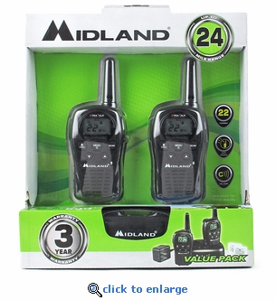 Midland Walkie Talkie Two-Way Radios (Pair)