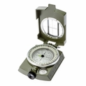 Military Lensatic Sighting Compass with Pouch and Lanyard