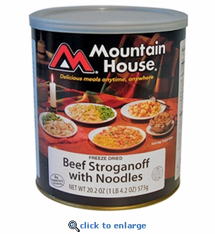 Mountain House Beef Stroganoff with Noodles - #10 Cans - Case of 6