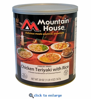 Mountain House Chicken Teriyaki with Rice - #10 Cans - Case of 6