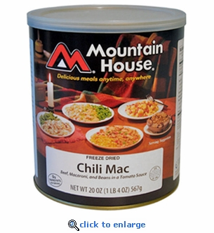 Mountain House Chili Mac with Beef - #10 Cans - Case of 6