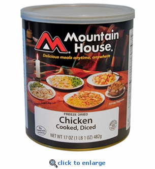 Mountain House Cooked Diced Chicken - #10 Cans - Case of 6