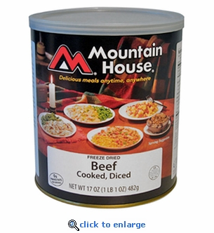Mountain House Diced Beef Cooked - #10 Cans - Case of 6