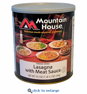 Mountain House Lasagna w/ Meat Sauce - #10 Cans - Case of 6
