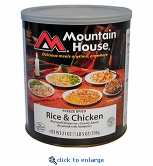 Mountain House Rice & Chicken - #10 Cans - Case of 6