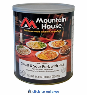 Mountain House Sweet & Sour Pork with Rice - #10 Cans - Case of 6