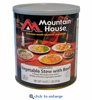 Mountain House Vegetable Stew with Beef - #10 Cans - Case of 6