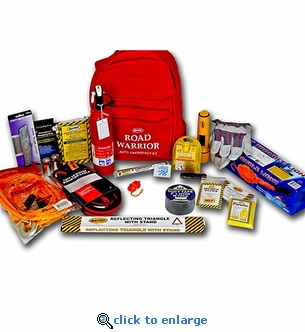 Mountain Road Warrior Backpack Emergency Kit - 22 pieces