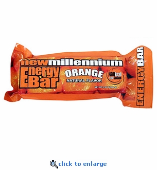 Orange Millennium Energy Bars - 400 Calories - Case of 144