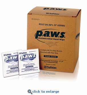 PAWS Antimicrobial Wipes 100 Pack