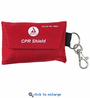 Dynarex CPR Shield with Keyring Pouch
