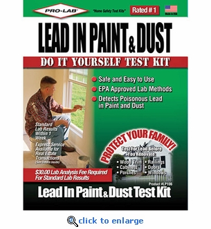 Pro-Lab Lead In Paint & Dust Home Test Kit