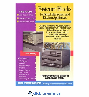 Quakehold! 4170 Fastener Blocks 2-Pack