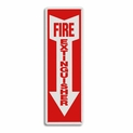 "Rigid Plastic Fire Extinguisher Arrow Sign - 4"" x 12"""