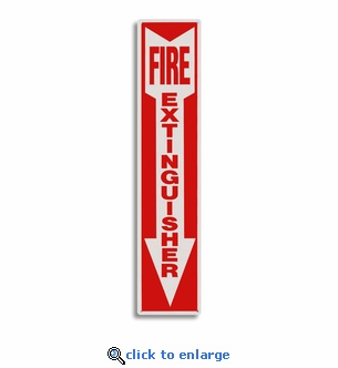 Rigid Plastic Fire Extinguisher Arrow Sign - 4