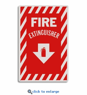 Rigid Plastic Fire Extinguisher Arrow Sign - 8