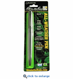 Rite in The Rain All-Weather Tactical Black Clicker Pen No. 97