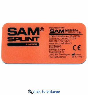 SAM Finger Splint 4'' x 1.75'' - 10 Pack