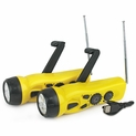 SE 4 n 1 Dynamo Radio w/ Flashlight & Cell Charger - Set of 2
