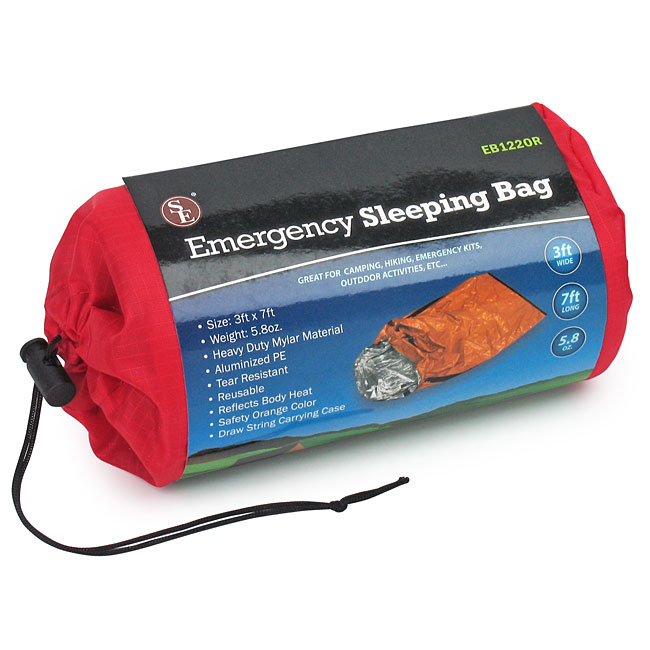 Se Mylar Emergency Sleeping Bag With Drawstring Pouch Solar Blankets Bags Cots Airbeds