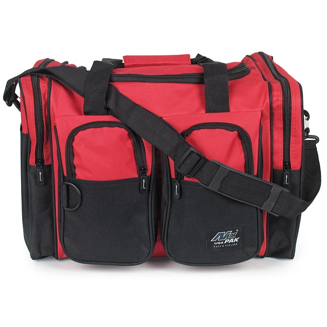 335dc26ef Nexpak Small Red Duffle Bag - 18'' x 11'' x 12.5'' - EMT Medical Supply Bags,  Packs and First Aid Kit Containers