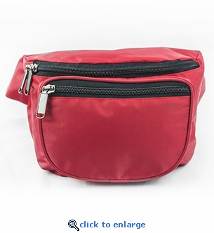 Small Red Hip-Pack - 3 Pouch Emergency Fanny Pack