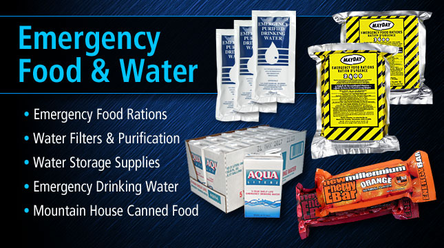 Emergency Survival Food and Water Supplies