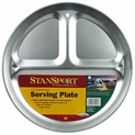 Stansport 3-Compartment Aluminum Camping Plate
