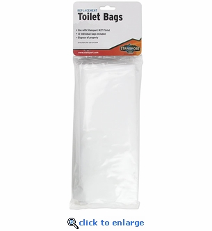 Stansport Disposable Toilet Bags 12-Pack