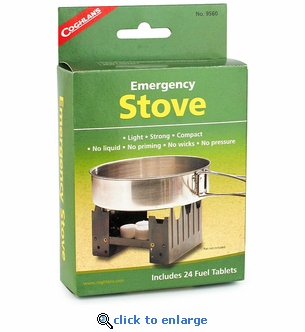 Coghlan's Fold-Up Backpacker's Emergency Stove with 24 Fuel Tablets