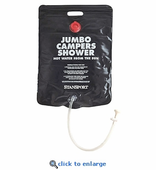 Stansport Jumbo Campers Solar Heated Shower - 5 Gallon