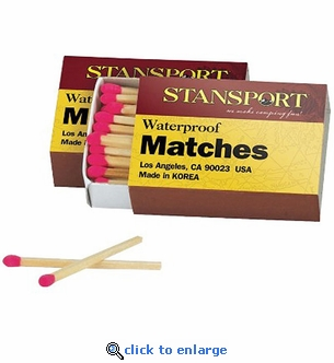 Stansport Waterproof Matches - Box of 40