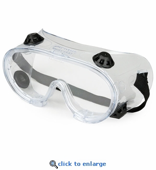Vented Chemical Splash Safety Goggles