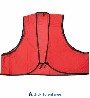 Vinyl Safety Vest Fluorescent Orange