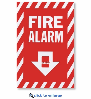 Vinyl Self-Adhesive Fire Alarm Arrow Sign - 8