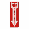 "Vinyl Self-Adhesive Fire Extinguisher Arrow Sign - 4"" x 12"""