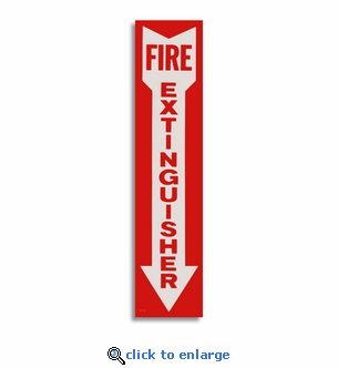 Vinyl Self-Adhesive Fire Extinguisher Arrow Sign - 4