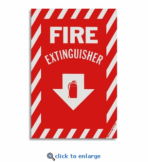 Vinyl Self-Adhesive Fire Extinguisher Arrow Sign - 8