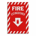 "Vinyl Self-Adhesive Fire Extinguisher Arrow Sign - 8"" x 12"""