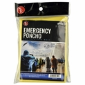 Yellow Emergency Rain Poncho with Adjustable String Hood