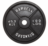 100lb Black Olympic Weight Plate - Pair $329.99