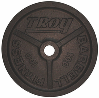 100lb Black Troy Wide Flanged Olympic Weight Plate - Pair $389.99