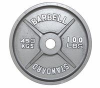 100lb Gray Olympic Weight Plate - Pair $329.99