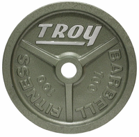 100lb Gray Troy Wide Flanged Olympic Weight Plate - Pair $389.99