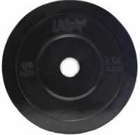 10lb Black Rubber Bumper Plates - Pair