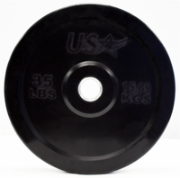 35lb Black Rubber Bumper Plates - Pair $159.99