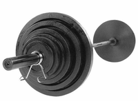 Body Solid Cast Olympic Weight Set W/Black Bar $619.99