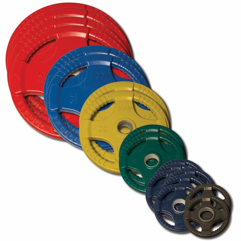 Body Solid Colored Rubber Olympic Weight Plate Set 355lbs