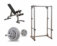 Body Solid Economy Power Rack Gym Package II